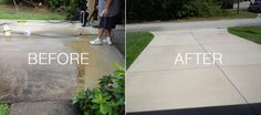 My driveway and sidewalk are 8 years old, we live in SW Florida, sprinklers, constant rains during our rainy season and the humidity and heat, makes for a great growing place for mold. The concrete was black with algea and mold, got slick when wet. I used a 2000 psi electric pw and Simplegreen HD to prepare for the sealer. I used 10 gals of RadonSeal Plus, the first i used a roller, second coat i used a garden sprayer. This product works great leaves the concrete looking natural.