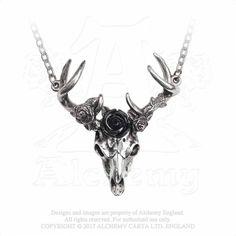 Owl Necklace Gothic Unisex Jewellery Alchemy Gothic Stryx Blue Pendant