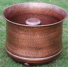 Ordinaire New Hammered Copper Garden Hose Pot