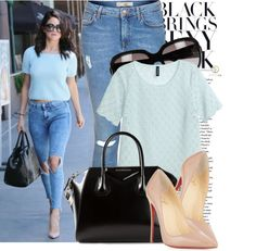 """""""Get The Look: Selena Gomez's Nude Pumps"""" by eraining on Polyvore"""
