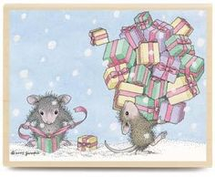 Image detail for -House Mouse Rubber Stamp MICE ELVES HMJR1034 Christmas