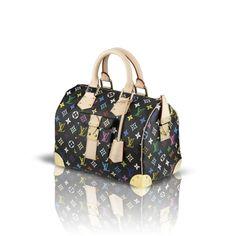 2688c7874d0d Louis Vuitton M92642 Monogram Multicolors Canvas Speedy 30 – Black Vuitton  Bag