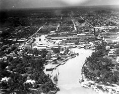 Florida Memory - Aerial view of the Miami River - Miami, Florida 1918