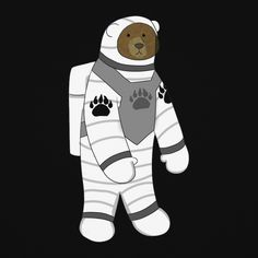 Blue Banana Astronaut Bear