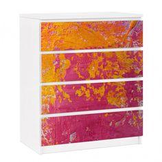 Möbelfolie für IKEA Malm Kommode - selbstklebende Folie The Loudest Cheer #IKEA #Möbel #Möbelfolie #Aufkleber #Malm