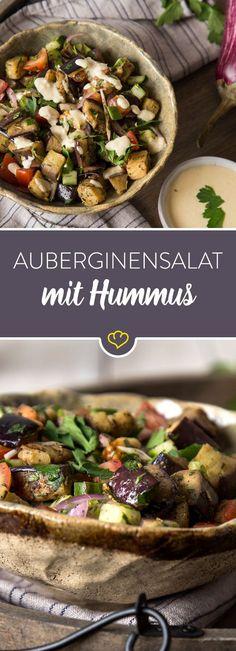 Auberginensalat mit Hummus