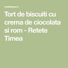 Tort de biscuiti cu crema de ciocolata si rom - Retete Timea