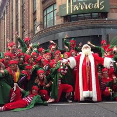 Harrods knows how to do Christmas ... they have also held an annual Christmas parade in London since 1908!