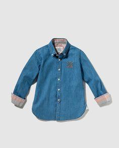 Camisa de niño Bass 10 en azul vaquera