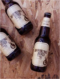 Burning Bird Beer by Chad Geran, via Behance