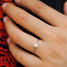 ct Oval Cut Minimal Diamond Ring in Solid Gold, Baby Solitaire Diamond Engagement Ring - Rings Diamond Promise Rings, Diamond Wedding Rings, Diamond Anniversary Rings, Bridal Jewelry Sets, Bridal Rings, Platinum Engagement Rings, Simple Earrings, Marie, Oval Diamond