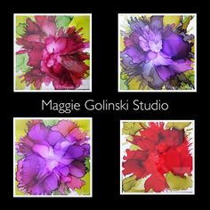 Sealing alcohol ink on tiles