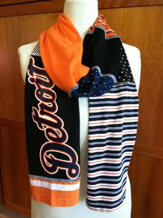 UPCYCLED t-shirt scarf- want to make with Buffalo bills shirts!
