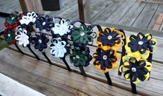 School Uniform Ribbon Double Flower Bow Hair Accessories Made to Match by #LaPrincesseBows on Etsy