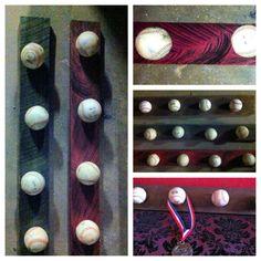 FREE SHIPPING Baseball rack shelf hanger by VeraJanesGifts on Etsy. , via Etsy.
