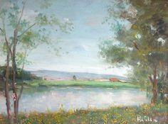 Attilio PRATELLA - Bord de fleuve