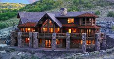"Summit Handcrafted log homes, modified ""Natahala"" in Park City, Utah"