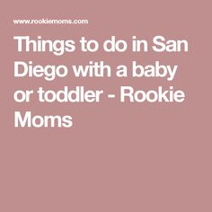 Things to do in San Diego with a baby or toddler - Rookie Moms