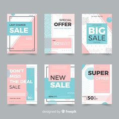 Sale web banner for social media collection Free Vector Creative Poster Design, Creative Posters, Graphic Design Posters, Graphic Design Inspiration, Ads Creative, Mise En Page Portfolio, Portfolio Design, Portfolio Layout, Brochure Design