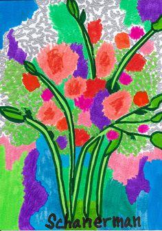 """""""Wildflower Wonder"""" - Original 5"""" x 7"""" heARTwork by Susan Schanerman"""