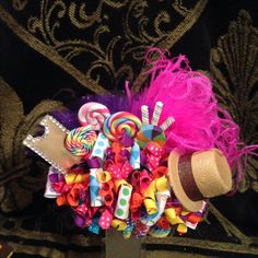 Willy wonka themed hair bow