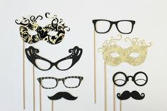 Photobooth Prop. Photo Booth Prop.  New Years Eve. Holiday. Wedding Photo Booth.  Photo Prop. Wedding Prop. Black Tie Formal. $33.00, via Etsy.