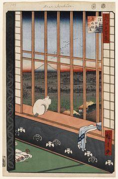 Hiroshige - One Hundred Famous Views of Edo - 101. Asakusa Ricefields and Torinomachi Festival