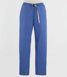 Scrub Med Womens Belted Scrub Pants in Bimini Blue