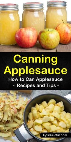 Discover how easy canning applesauce can be with a water bath or without a canner in an instant pot or crockpot. Our guide gives you a great apple sauce recipe with cinnamon and no sugar and will have you canning like a pioneer woman! Easy Canning, Canning Tips, Canning Labels, Easy Apple Sauce, Apple Sauce Canning, Canning Applesauce, How To Can Applesauce, Home Canning Recipes, Jar Recipes