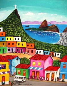 Discover the world through photos. Brazil Art, South American Art, Caribbean Art, Arte Popular, Naive Art, Travel Posters, Ceramic Art, Art Lessons, Home Art