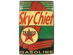 Sm Texaco Sky Chief Tin Sign