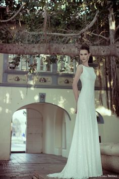 flora bridal 2014 helena sleeveless sheath wedding dress