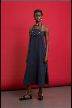 Seaside Chic: Pichulik's Hemp Clothing and Espadril Shoe Range Rope Halter, Hemp Fabric, Brave Women, Bold Jewelry, Easy Wear, High Neck Dress, Summer Dresses, Chic, How To Wear