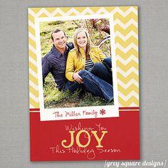 Custom Photo Christmas CardChevron by greysquare on Etsy, $12.00