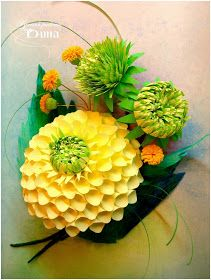 Dean ART-hobby: How do I do dahlias. Paper Quilling Flowers, Quilling Craft, Quilling Designs, Quilling Ideas, Giant Flowers, Felt Flowers, Diy Flowers, Quilling Tutorial, Quilling Techniques