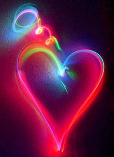 Colorful heart via www.IamPoopsie.com