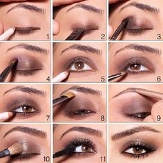 Soft Brown Smokey Eyes Makeup Tutorial