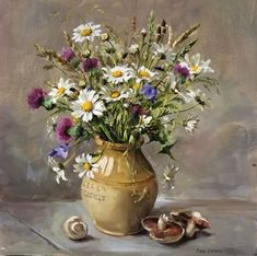 Meadow Flowers and Mushrooms | Mill House Fine Art – Publishers of Anne Cotterill Flower Art