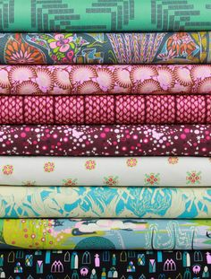 Anna Maria Horner for Free Spirit, Fibs and Fables, Gallant in FAT QUARTERS 9 Total