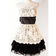 Black and White Lace Dress.