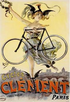 It is a wonderful reproduction of a vintage French bicycle advertising art nouveau poster for ' Cycles Clement' by Pal in Paris, France in Paris Poster, Bike Poster, Poster Art, Retro Poster, Vintage Posters, Poster Prints, French Posters, Art Posters, Paris Vintage