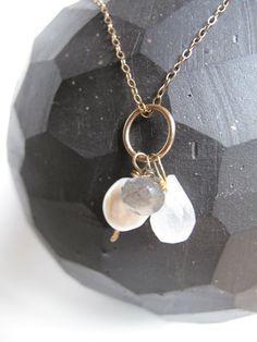Gold Semi PreciousStone Cluster Wire Wrapped by Taradaviesjewelry