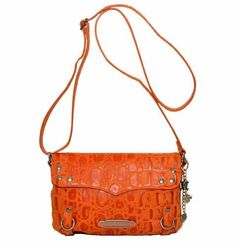 Harley Davidson Womens Orange Hammered Croco Crossbody Bag Purse HC7963L-ORG Price : $159.95 http://www.wisconsinharley.com/Harley-Davidson-Hammered-Crossbody-HC7963L-ORG/dp/B00J4T4I9C