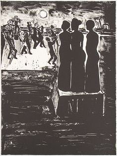 "Lena Cronqvist: ur mappen ""Ett drömspel"", litografi, 73x52 cm, edition II/X - Bukowskis Market 1/2016"