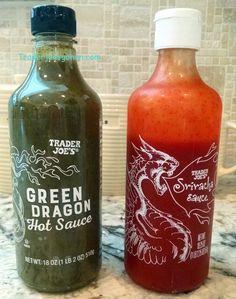 Trader Joe's Green Dragon Hot Sauce  10oz $2.99 トレーダージョーズ グリーンドラゴンホットソース トレーダージョーズ シラチャーソース Trader Joe's Sriracha Sauce 18.25 ounce $2.99