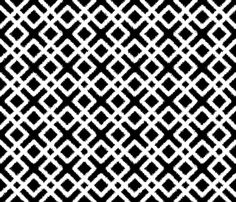 Weave Ikat _ Black and White fabric by fridabarlow on Spoonflower - custom fabric