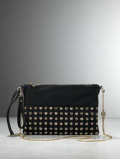 9cfeca4273e4  gift  regali  borsa  bag  gifts for her Patrizia Pepe - Borsa Maxi Pochette  in Ecopelle con applicazione di strass e borchie