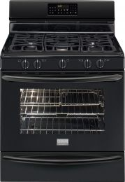 "Frigidaire Gallery Series FGGF3054MB 30"" Freestanding Gas Range with 5 Sealed Burners, 5.0 cu. ft. Oven Capacity, True Convection Oven, Self-Clean, Storage Drawer, Temperature Probe in Black"