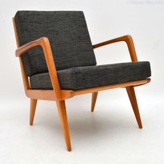Antiques Atlas - 1960's Danish Vintage Cherry Wood Armchair Danish Armchair, Retro Armchair, Antique Armchairs, Wood Arm Chair, Danish Furniture, How To Antique Wood, Occasional Chairs, Cherry, Cushions