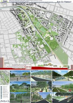 View full picture gallery of Ex-Fibronit - Redevelopment Project Architecture Student, Landscape Architecture, Museum Architecture, Urban Landscape, Landscape Design, Linear Park, Urban Intervention, Project Presentation, Urban Analysis